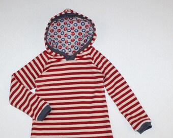 Organic Terry cloth Beach dress strips Red 1 cm strips