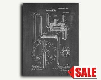 Patent Art - Bicycle Crank-shaft Patent Wall Art Print