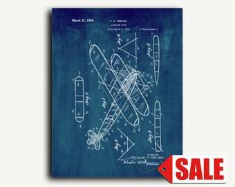 Patent Print - Airplane Kite Patent Wall Art Poster