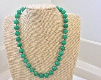 Marvella costume jade necklace