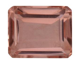 Morganite Quartz Triplet Loose Gemstone Octagon Cut 1A Quality 12x10mm TGW 6.30 cts.