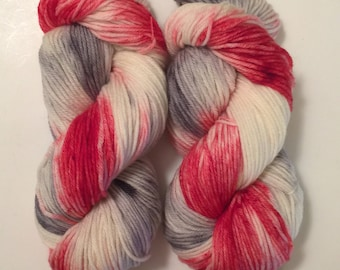 Hand Dyed Yarn worsted weight  | 100% superwash merino wool  | 100 gr | Cherish | super soft | Always free Shipping in US