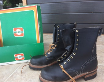 Vintage HY-test steel toe boots z41.1-1967/75 size 7.5D
