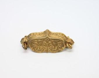 2 vintage brass drawer vintage ornate hardware diy home improvement