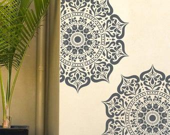 Manali Mandala Stencil - Indian Floor Wall Furniture Stencil - MANA01