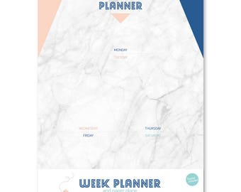 A4 Week planner ~ Paper Plane notepad