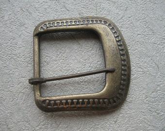 Antique gold metal belt buckle