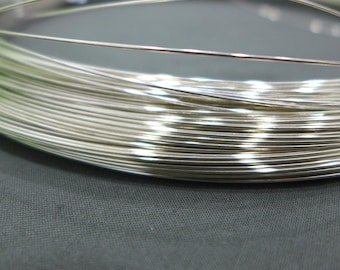 5ft,10ft,20ft,0.6mm,22gauge,925 Sterling Silver Half Hard Wire,Jewellery Craft,Wrapping Wire
