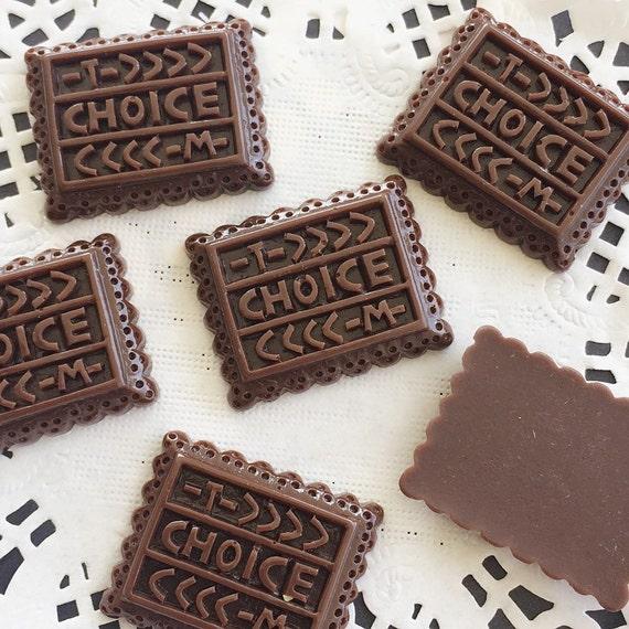 3pcs.21x27mm.Miniature Cabochon Cookie,Miniature Chocolate ,Cabochons,Miniature Sweet,Miniature Cabochon,DIY,Mobile case