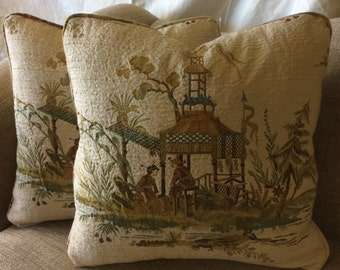Asian Valdese fabric pillows