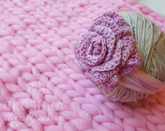 Handmade crochet headband, baby headwear, pink headband, baby fashion, baby hair accessory, pink, hair fashion, girl fashion, Made to Order