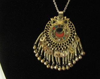 KUCHI   Afgan Alpaca silver belly dance necklace