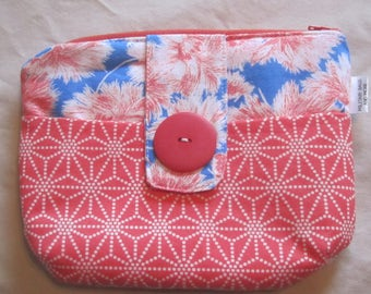 ORANGE & BLUE CLUTCH Purse