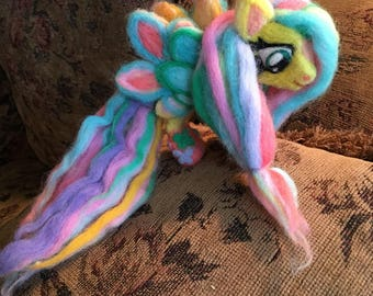 Needle Felted Rainbow Power Fluttershy
