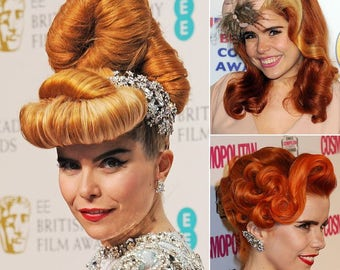 1 x Sausage Hair Padding Roll 18x5 x3cm/20x5x3cm Long/vintage hairstyles!1920 curls and swells! Vintage Hairstyle Inspirations