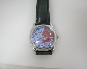 Lorus Quartz Mickey Mouse watch, Light blue and red Mickey