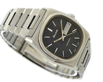 Vintage Bulova Classic Stainless Steel Mens Automatic Watch 1094 - Make me an offer!