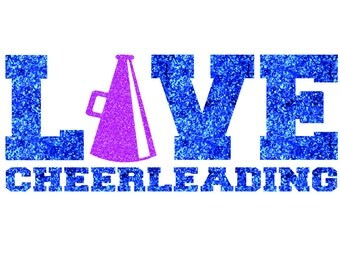 LOVE Cheerleading Iron On Decal