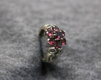 Sterling Silver, Vintage Cluster Ring