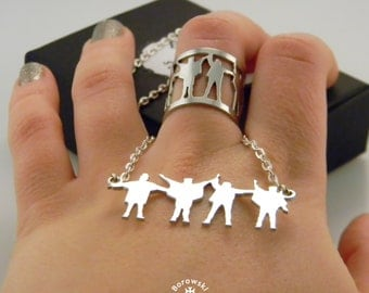 Set - pendant & The ring (free shipping) - stainless steel