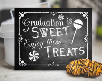 Printable Graduation Chalkboard Candy Sign, Candy Favors, Candy Buffet Table, Buffet Sign, Printable Graduation Party Decor, Class of 2017