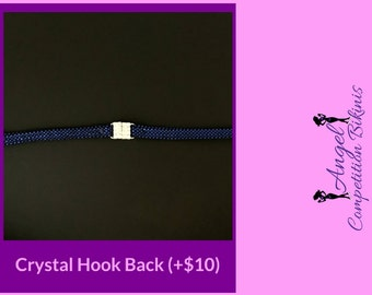 Deluxe Back Connector Upgrade for any Competition Bikini: Crystal Hook Back Connector