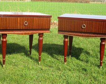 Pair Vintage Nightstands End tables Mid Century Modern Authentic