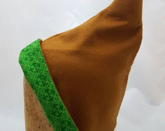 Brown/Green Pixie Hat