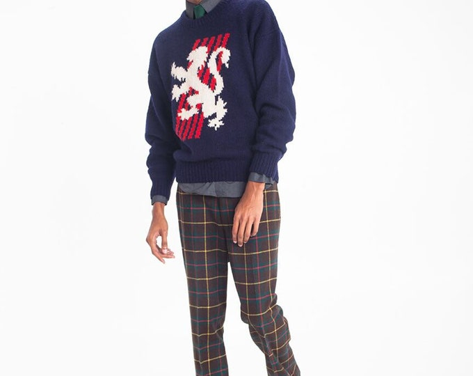 Vintage Estate Austin Reed Pure Wool Crest Sweater