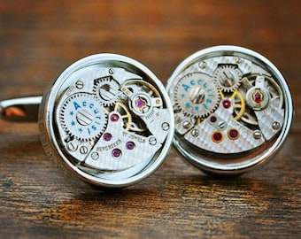 Accurist Watch Movement Cufflinks