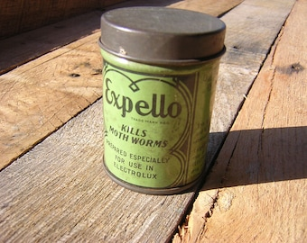 Vintage Expello collectible tin