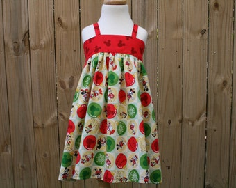 Disney Vintage Inspired Christmas Dress