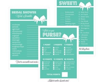Bridal Shower Games (Set of 10) - Bride & Co