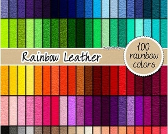 SALE 100 leather digital paper rainbow leather fabric digital paper leather texture printable scrapbooking pattern 12x12 neutral bright past