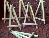 6 x mini natural wood easel *Free UK delivery*