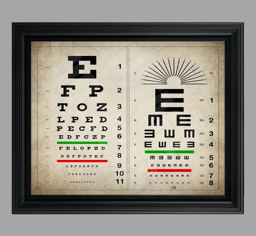It is a photo of Mesmerizing Printable Eye Tests
