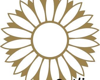 Custom UNFINISHED Wood Sunflower Monogram