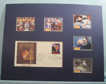 "Bela Lugosi in ""Dracula"" by author Bram Stoker  and the First Day Cover of Dracula stamp"