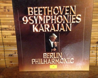 BEETHOVEN 9 SYMPHONIES KARAJAN   Berlin Philharmonic   Perfect Set