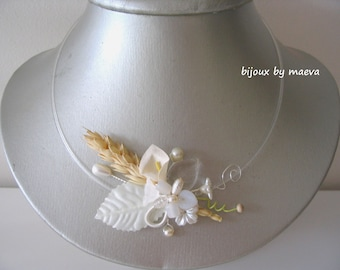 Jewelry bridal necklace wedding theme spike wheat