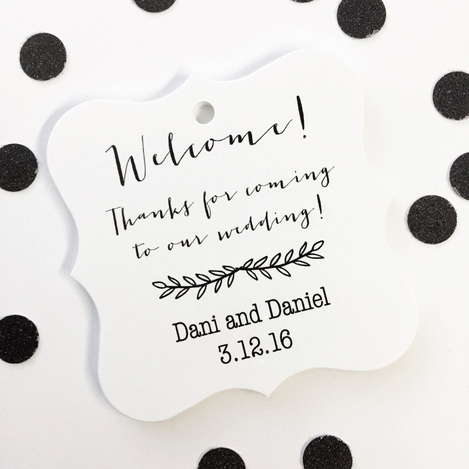 Thanks For Coming To Our Wedding Tags Custom Destination