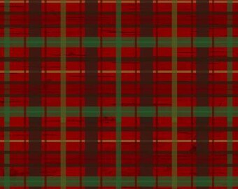 45'' Henry Glass and Co. Red Plaid Woodland Flannel by the Yard F6806-88