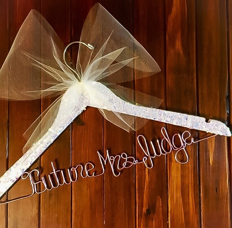 Confetti glitter hangers wedding hanger wedding dress for Wedding dress hangers with name