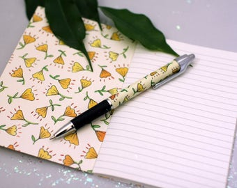 Little Notebook // Yellow Floral // A6 // Lined