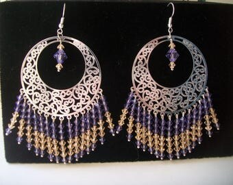 Silver swarovski Pearl Earring