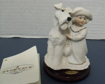 Giuseppe Armani Figurine Perfect Match 358-F Girl with dog in box with booklet signed