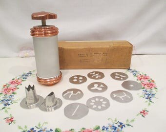 Vintage MIrro Cooky Press Cookie Maker and Decorator