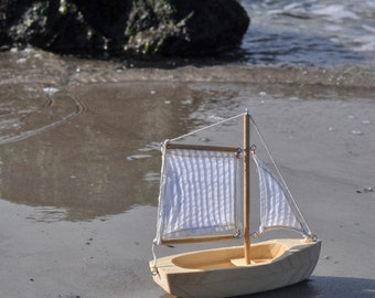 HandCrafted Wooden Toy Boat