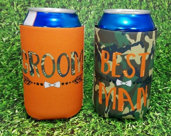 camo groomsmen gift wedding party can coolers / custom wedding party gifts / groomsmen gift idea / usher gifts / best man gifts / groom gift
