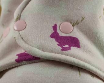 One Size Cloth Diaper - Bunny Cloth Diaper - OS Cloth Diaper - Fitted Diaper - Bamboo Diaper - Hemp Insert - Cloth Diaper - Organic Diaper